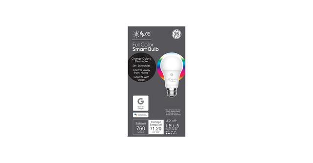 C by GE pleine couleur A19 boîte d'ampoule