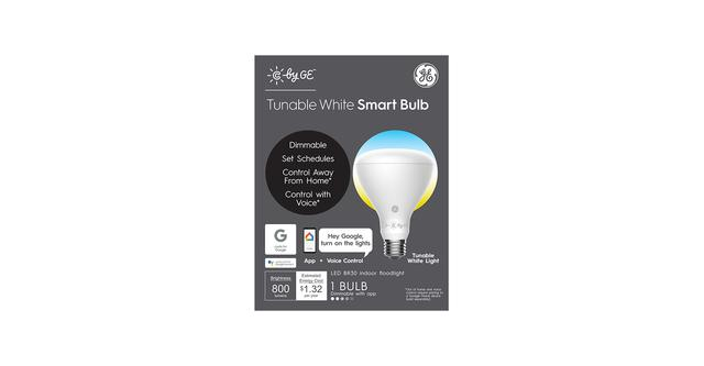 C by GE accordable blanc BR30 boîte d'ampoule