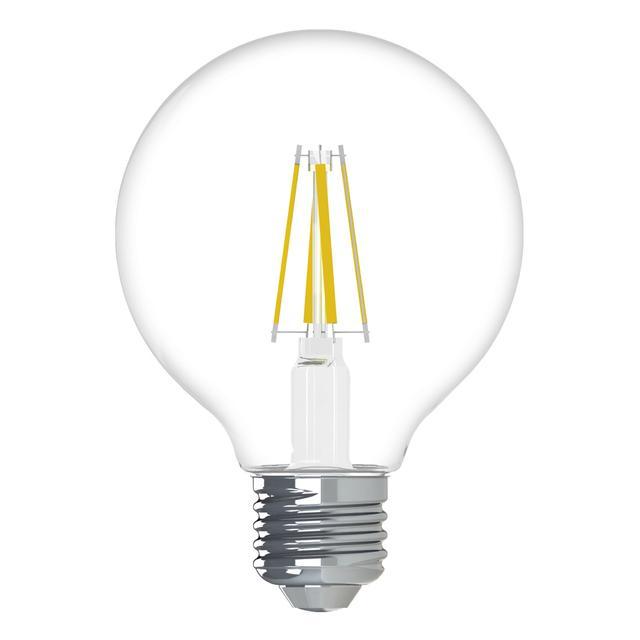 Image de produit de GE Relax HD Soft White 60W Ampoules LED de remplacement Décoratif Clear Globe Medium Base G25 (2-Pack)