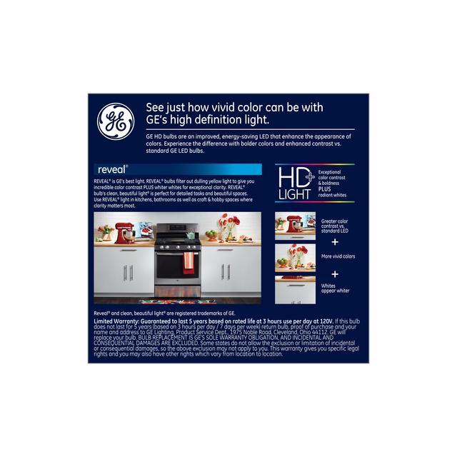 Paquet de dos de GE Reveal HD+ Color-Enhancing 60W Remplacement LED à usage général A19 Ampoules de lumière (2-Pack)
