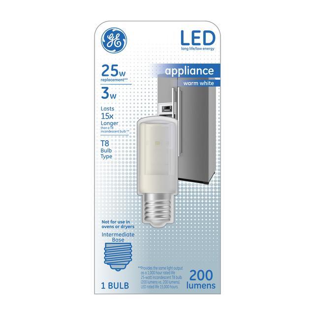 Paquet avant d'ampoule LED de remplacement blanc chaud 3 W T8