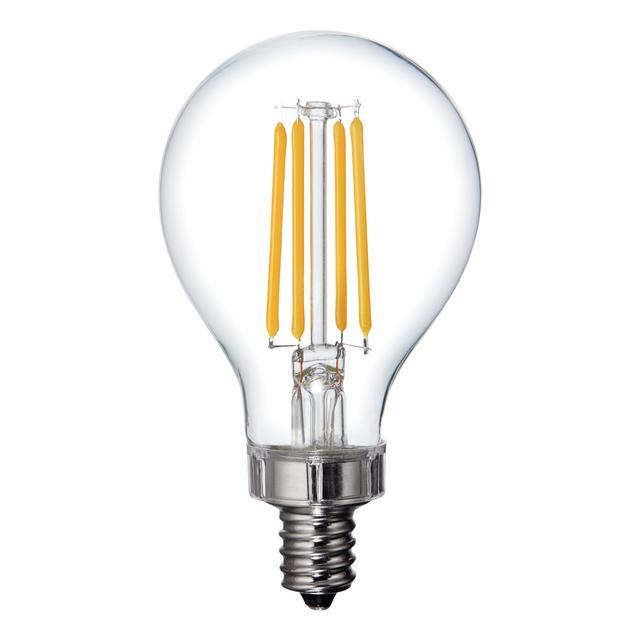 Image du produit de Relax HD Soft White 40W Ampoules LED de remplacement Clear Ceiling Fan Candelabra Base A15
