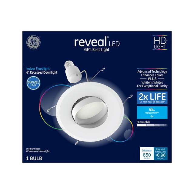 Ensemble avant de Reveal HD+ Color-Enhancing 65 W Remplacement ampoule LED Éclairage d'inondation à l'intérieur Downlight RS6