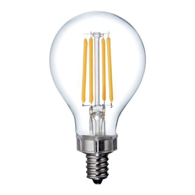 Image du produit de Relax HD Soft White 60W Ampoules LED de remplacement Clear Ceiling Fan Candelabra Base Clear A15