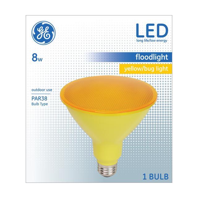 Paquet avant de GE Yellow Buglight 90 W Remplacement LED Projecteur extérieur PAR38 (1-Pack)