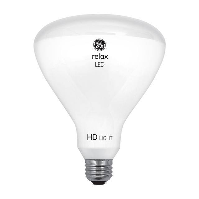 Image de produit de GE Relax HD Soft White 65W Ampoules LED de remplacement Projecteur intérieur BR40 (2-Pack)