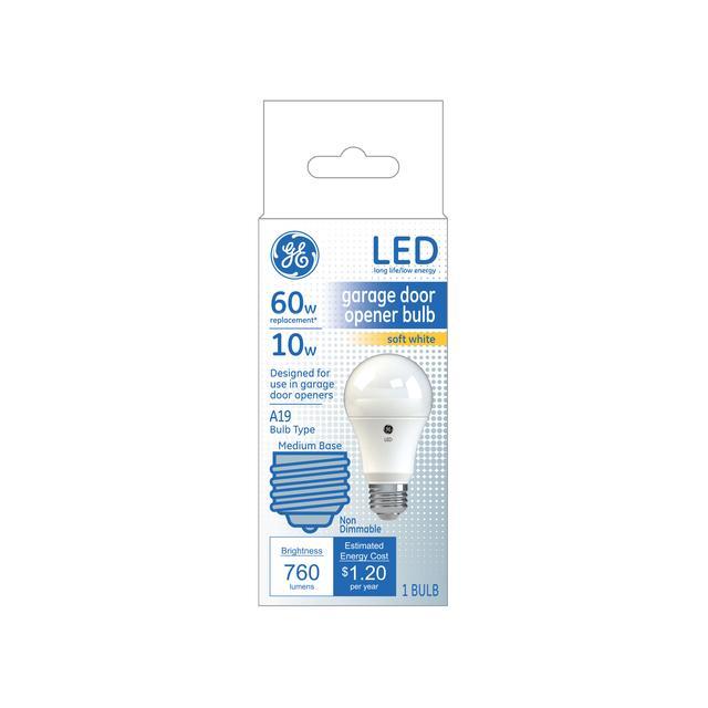 Paquet avant de Blanc doux 60 W remplacement LED Porte de garage Ouvre-porte ampoule A19