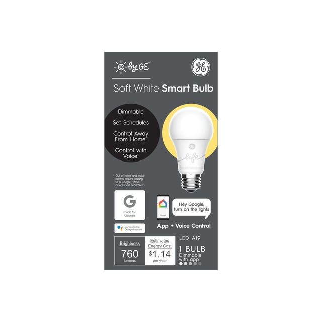 Front package of C by GE Soft White A19 Smart LED Bulb (1-Pack)