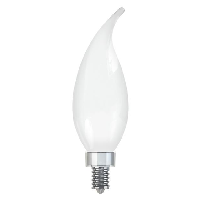 Product Image of Soft White LED 40W Replacement Frosted Decorative Bent Tip Candelabra Base CAC Light Bulb (1-Pack)