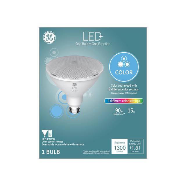 Ensemble avant de LED+ Color Changing 90 W Remplacement LED Outdoor Floodlight PAR38 Light Bulb (1-Pack)