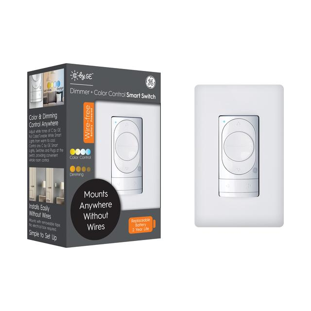 Front package of GE C by GE Wire-Free Dimmer Smart Switch + Color Control