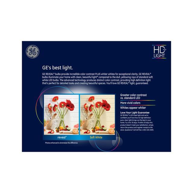 Paquet arrière de GE Reveal HD+ Lumier intérieur LED de remplacement de 85 W améliorant la couleur BR40 Ampoules de lumière (2-Pack)
