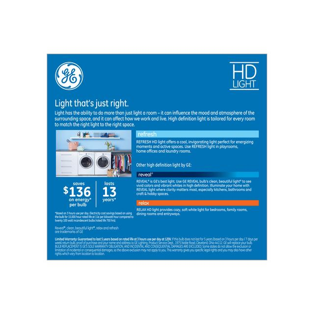 Paquet arrière de Refresh HD Daylight 100W Remplacement LED Indoor General Purpose A21 Light Bulbs (2-Pack)