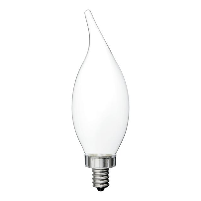 Product Image of GE Relax HD Soft White 60W Replacement LED Light Bulbs Decorative White Bent Tip Candelabra Base CAC