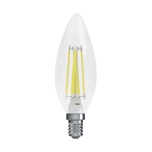Image de produit de GE Refresh HD Daylight 60W Ampoules LED de remplacement Décoratif Clear Blunt Tip Candelabra Base BC