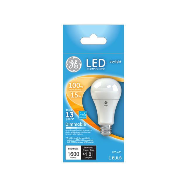 Paquet avant de 100 W Remplacement Lumière du jour Dimmable LED Ampoule à usage général A21