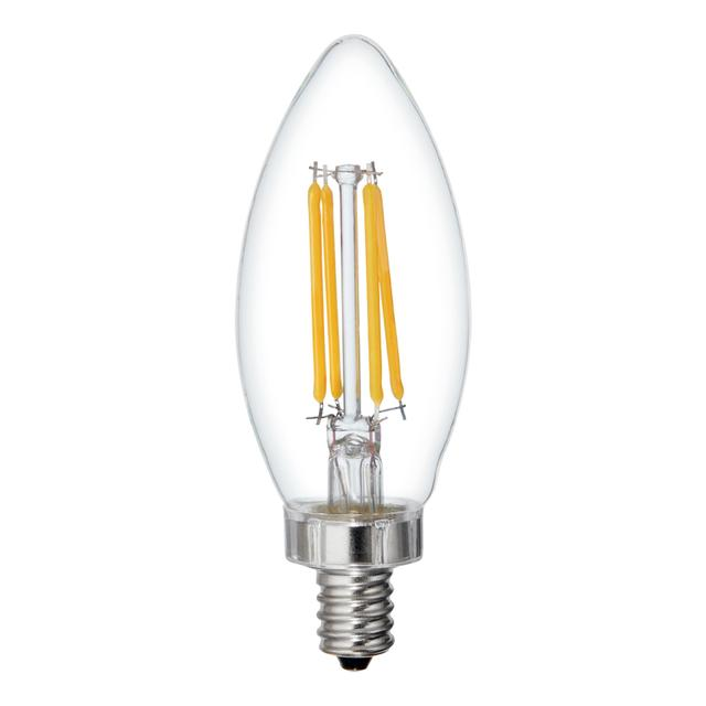 Image produit de Reveal HD + Color-Enhancing 60W Remplacement LED décoratif Clear Blunt Tip Candelabra Base BC Bulb