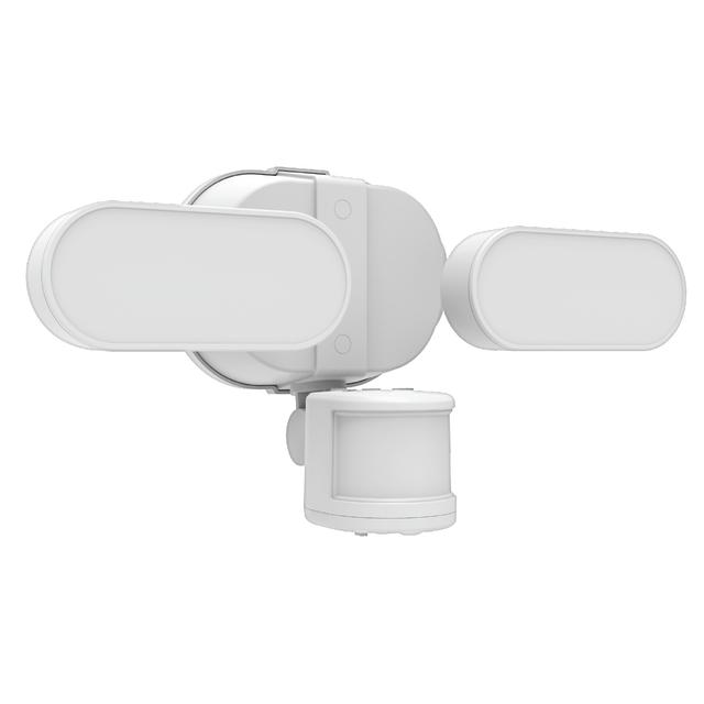 Ensemble avant de GE LED+ Linkable Motion Soft White 250 W Replacement Integrated LED Outdoor Security Fixture (1-Pack)