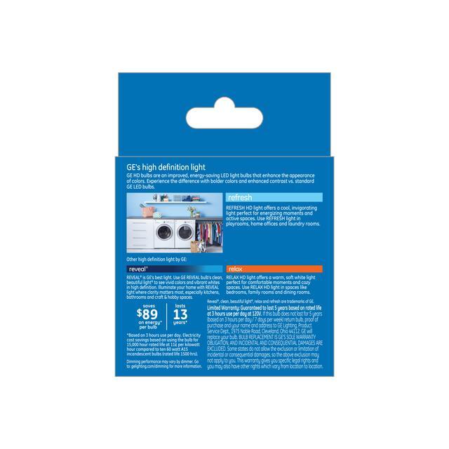Paquet arrière de Refresh HD Daylight 60W Remplacement LED Clear Ceiling Fan A15 Éclairages (2-Pack)
