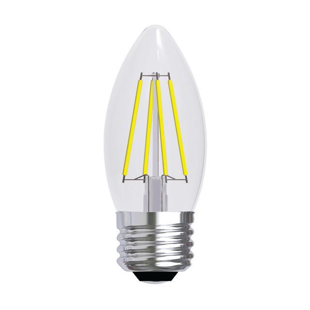 Image produit de GE Refresh HD Daylight 40W Remplacement ampoules LED Décorative Clear Blunt Tip Base moyenne BM (2-Pack)