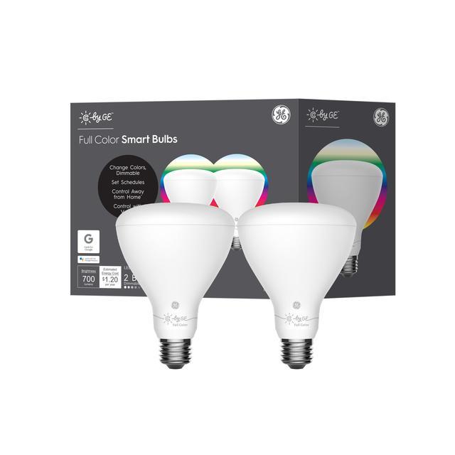 Emballage avant de C by GE l'ampoules LED BR30 Smart (2-Pack) (l'emballage peut varier))