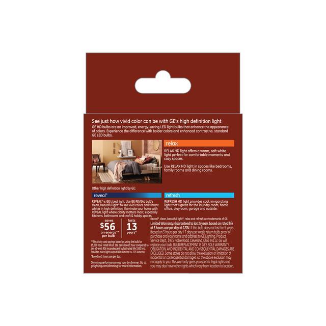 Paquet arrière de GE Relax HD Soft White 45W Projecteur intérieur LED de remplacement R16 Ampoules de lumière (2-Pack)