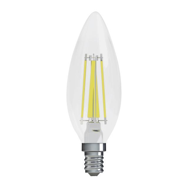 Image du produit de GE Refresh HD Daylight 40W Ampoules LED de remplacement Décoratif Clear Blunt Tip Candelabra Base BC (2-Pack)