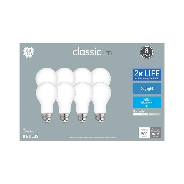 Paquet avant d'ampoules LED de remplacement de la lumière du jour 60 W à usage général A19