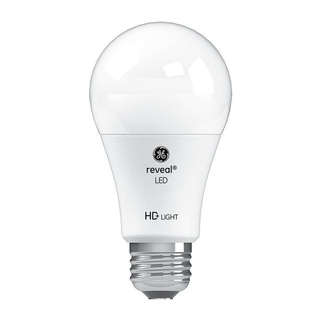 Image produit des ampoules GE Reveal HD+ de remplacement de 60 W à usage général A19 d'éclairage améliorant la couleur (2-Pack)