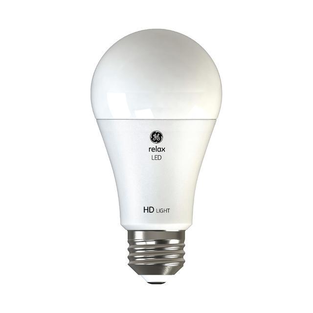 Image du produit de GE Relax HD Soft White 100W Remplacement LED Ampoules à usage général A19 Éclairage (2-Pack)