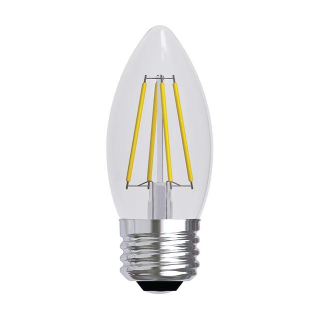 Image produit de GE Relax HD Soft White 60W Remplacement ampoules LED Ampoules décoratives Clear Blunt Tip Base moyenne BM (2-Pack)