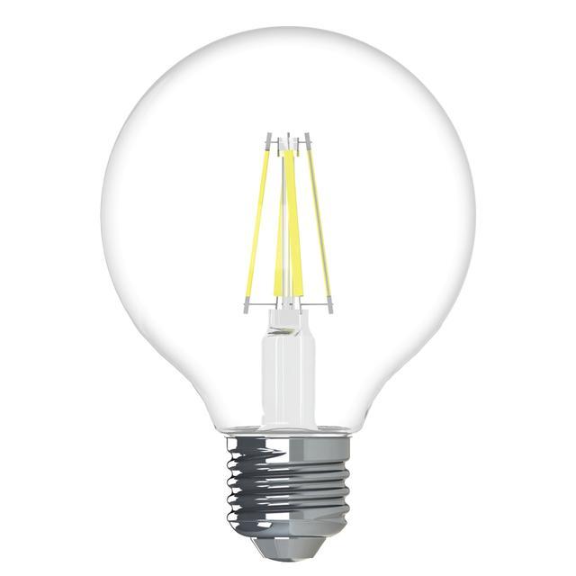 Image de produit de GE Refresh HD Daylight 60W Ampoules LED de remplacement Décoratif Clear Globe Medium Base G25 (2-Pack)