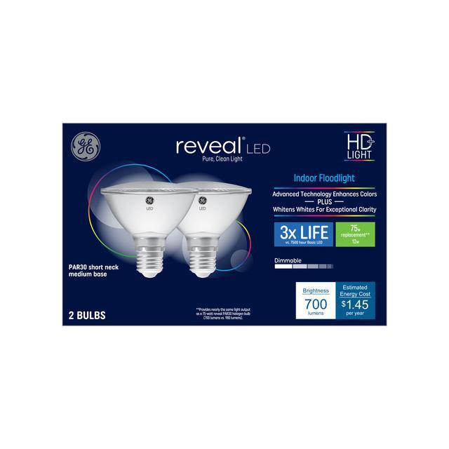 Paquet avant de GE Reveal HD+ Color-Enhancing 75 W Remplacement ampoule LED Projecteur intérieur PAR30