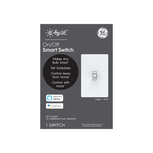 Paquet avant de C by GE On / Off 4-Wire Toggle Style Smart Switch (1-Pack)