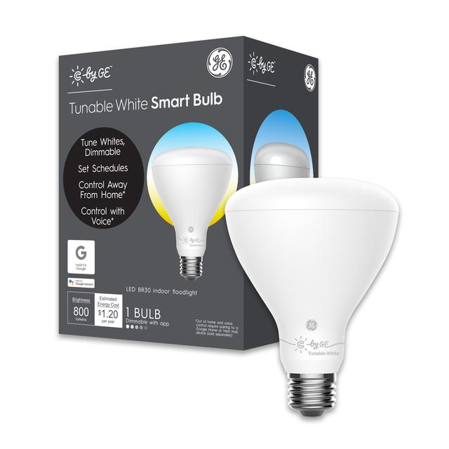 Front package of C by GE Tunable White BR30 Smart LED Bulb (1-Pack)