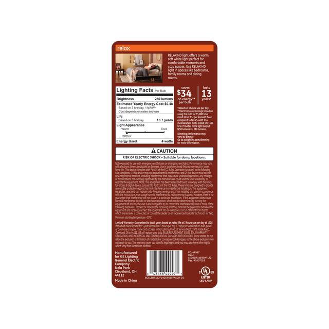Paquet arrière de Relax HD Soft White 25W Remplacement LED Projecteur intérieur R16 Ampoules de lumière (2-Pack)