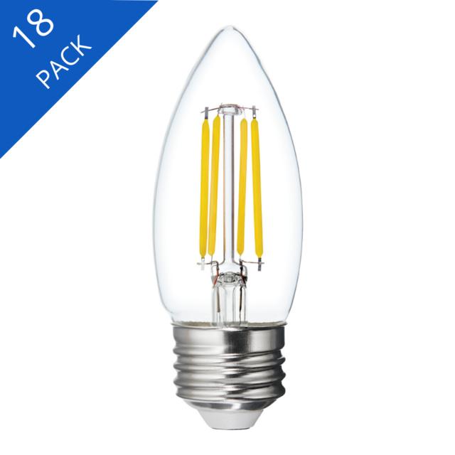 Image du produit de GE Relax HD Soft White 40W Remplacement LED Clear Decorative Blunt Tip Medium Base BM Light Bulbs (3-Pack)