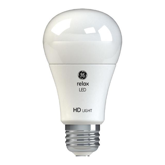 Image du produit de GE Relax HD Soft White 60W Remplacement LED à usage général A19 Lumerbe ampoule (4-Pack)