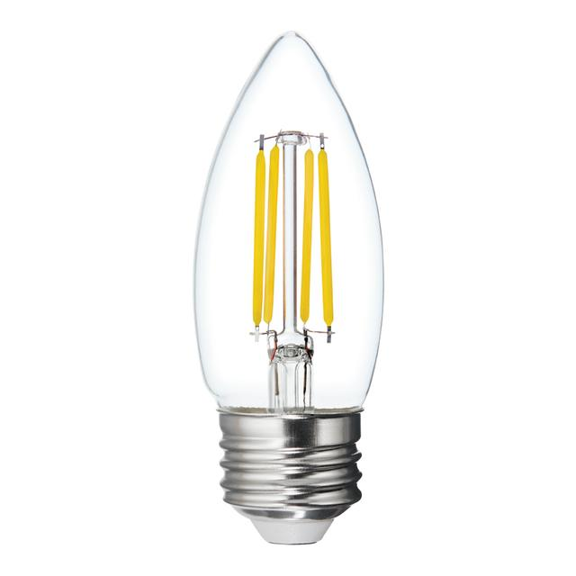 Image de produit de Refresh HD Daylight 40W Clear Decorative Blunt Tip Medium Base BM Light Bulbs (3-Pack)