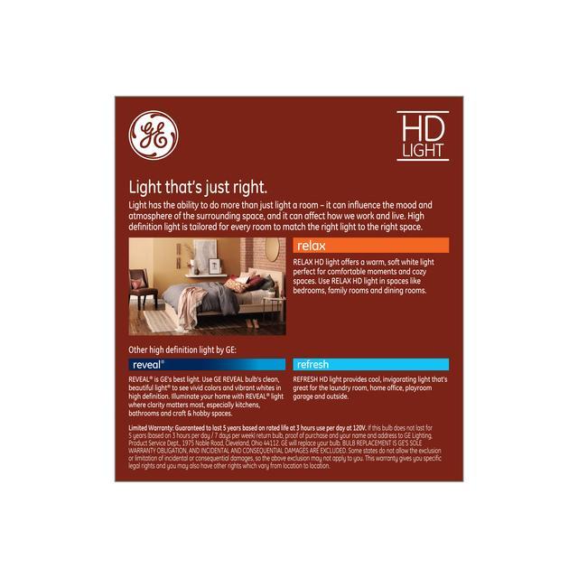 Paquet arrière de Relax HD Soft White 40W Remplacement LED Clear Decorative Blunt Tip Candelabra Base BC Lumes allumettes (6-Pack)