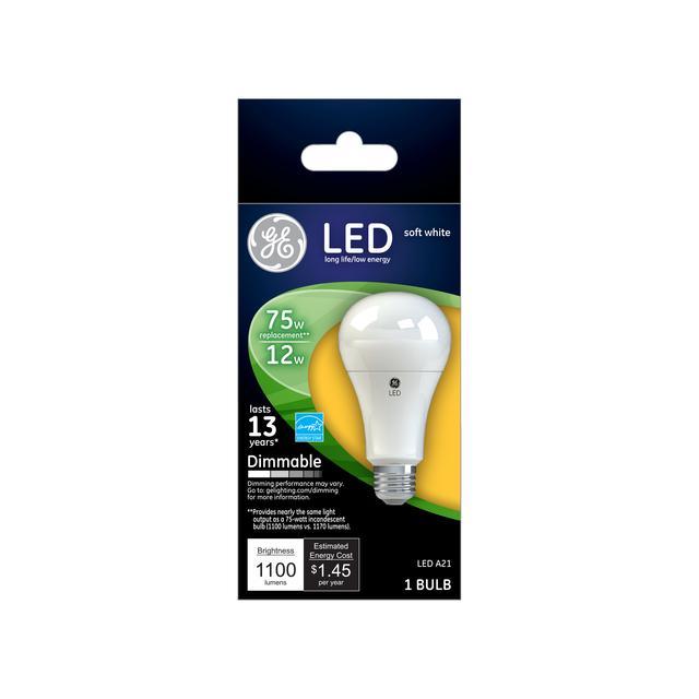 Paquet avant de 75 W Remplacement Soft White Dimmable LED Ampoule à usage général A21