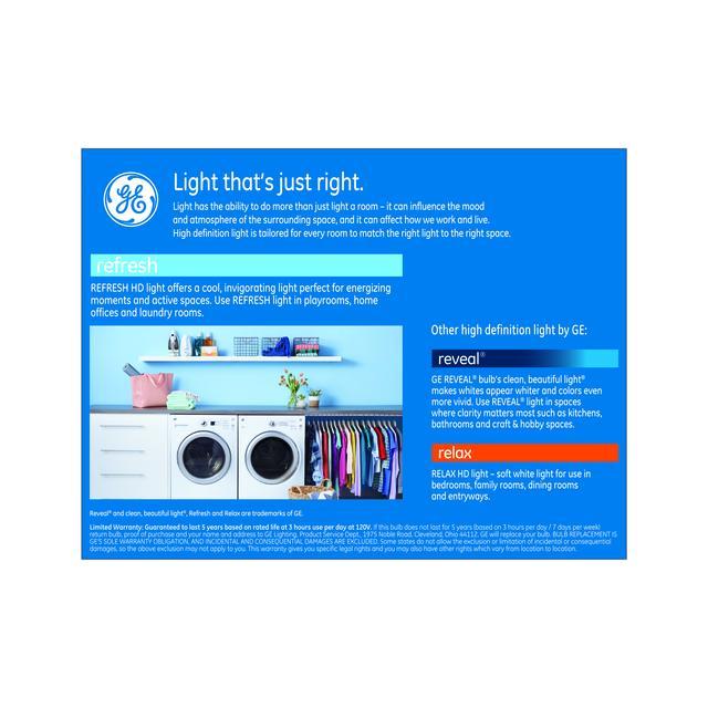 Paquet de retour de GE Refresh HD Daylight 85W Ampoules LED de remplacement Projecteur intérieur BR40 (2-Pack)