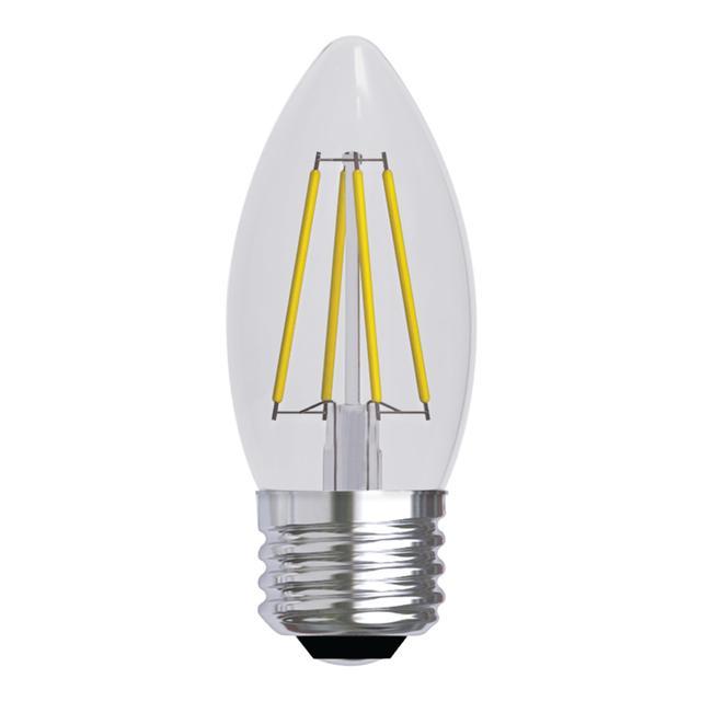 Image du produit de GE Refresh HD Daylight 60W Ampoules LED de remplacement Décoratif Clear Blunt Tip Medium Base BM (2-Pack)