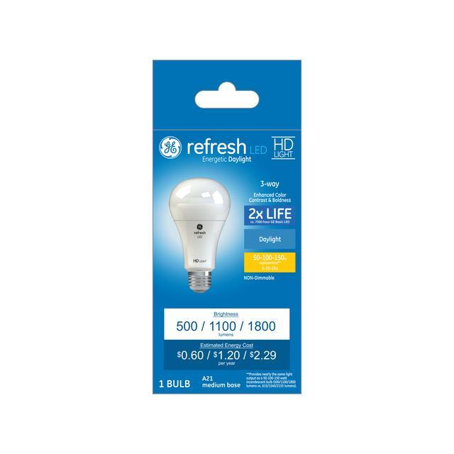 Paquet avant de Refresh HD Daylight 150 W Remplacement des ampoules LED à usage général A21