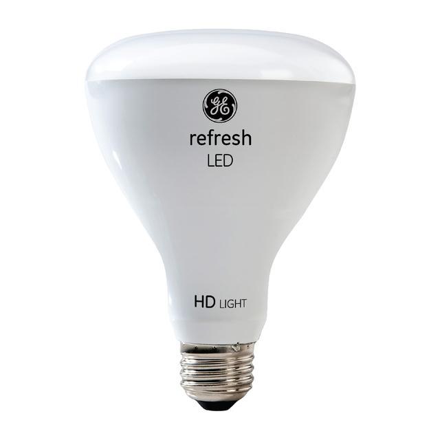 Image du produit de GE Refresh HD Daylight 65W Projecteur intérieur LED de remplacement BR30 Ampoules (2-Pack)