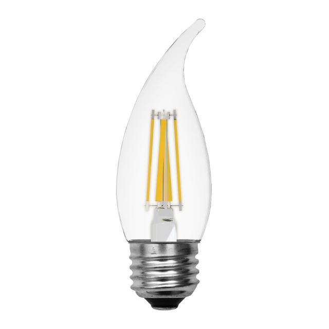 Image de produit de GE Relax HD Soft White 40W Ampoules LED de remplacement Clear Decorative Bent Tip Medium Base CAM (2-Pack)