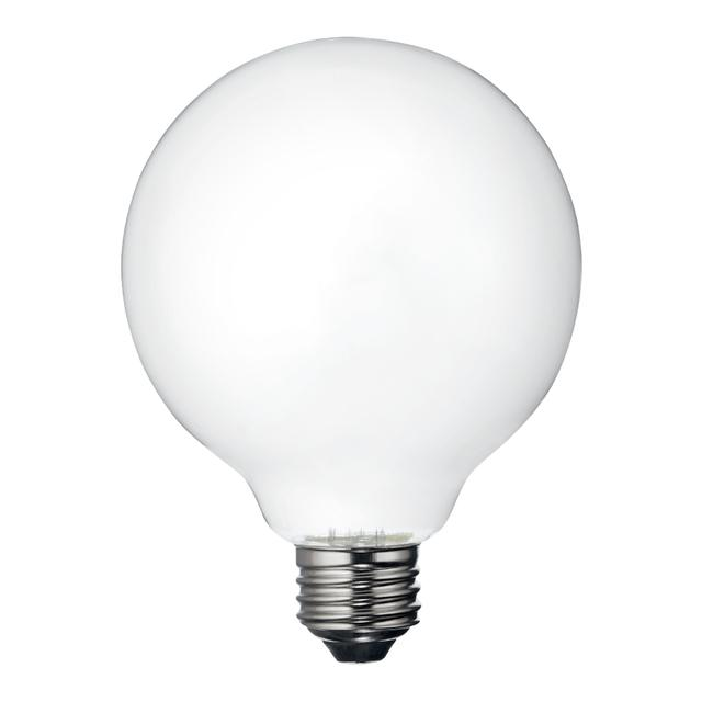 Image de produit de GE Relax HD Soft White 60W LED Frosted Decorative Globe Medium Base G30 Light Bulb (1-Pack)