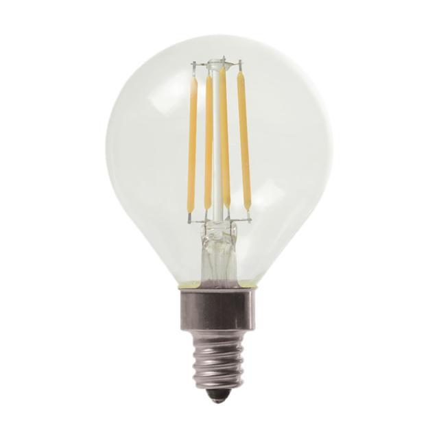 Image du produit de GE Relax HD Soft White 40W Ampoules LED de remplacement Décoratif Clear Globe Candélabre Base G16 (2-Pack)