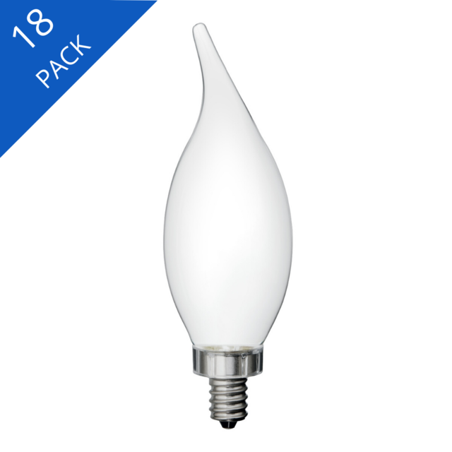Image produit de GE Relax HD Soft White 60W Remplacement ampoules LED Ampoules décoratives White Bent Tip Candélabre Base CAC