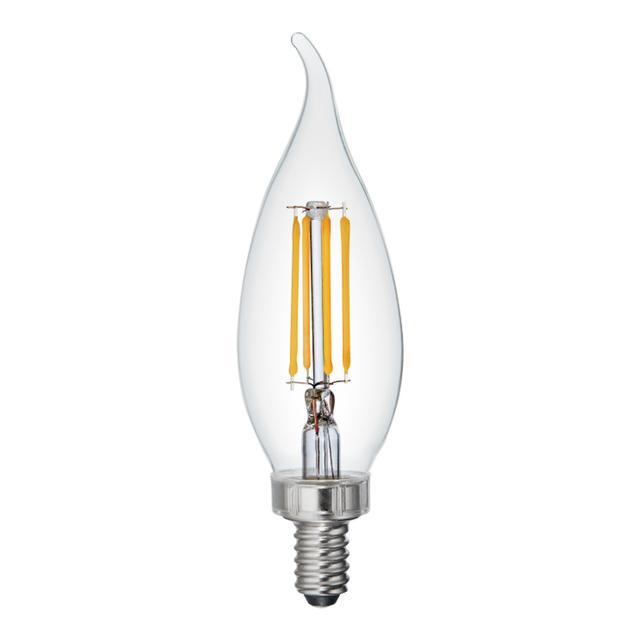 Image du produit de Relax HD Soft White 40W Remplacement LED Clair Décoratif Bent Tip Candelabra Base CAC Light Bulbs (6-Pack)